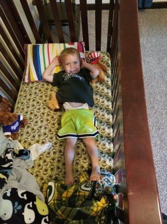 Last pic in the crib